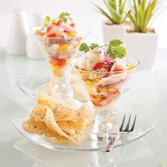 Ceviche de tilapia Tilapia, Ceviche, Panna Cotta, Appetizers, Ethnic Recipes, Desserts, Grenade, Food, Brie