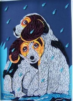 Картина, панно, рисунок Квиллинг: Непогода Бумага День рождения. Фото 1