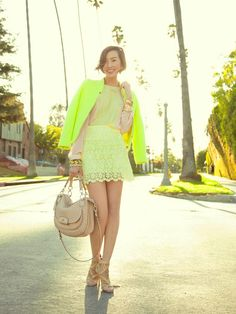 pastels and neon <3 @Chriselle Lim