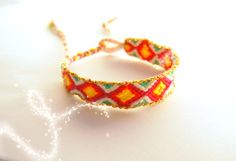 Handwoven Friendship Bracelet Aztec . White by TheTreeOfHappiness, $10.90