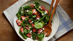 Recipe: easy spinach salad recipes with feta cheese strawberry-spinach- Feta Cheese Recipes, Spinach Salad Recipes, Salad Recipes For Dinner, Healthy Salad Recipes, Healthy Foods To Eat, Paleo, Keto, Spinach Strawberry Salad, Strawberry Recipes