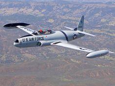 A Lockheed T-33 Shooting Star (Tbird).