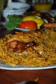 Machboos Dajaj/Chicken in Yellow Rice - Emirati Food