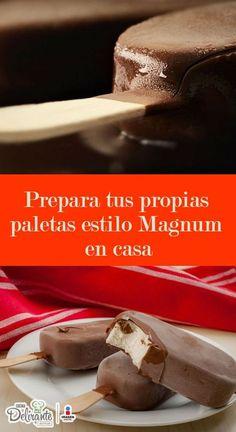deliciosas paletas magnum caseras. Son súper fáciles de preparar y a toda tu familia les encantarán.