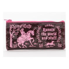 Runnin' the World and Stuff - Blue Q Pencil Case Gag Gifts, Funny Gifts, Unicorn Store, Ohh Deer, Little Red Hen, Funny Mothers Day, Hand Applique, Unicorn Gifts, Accessories