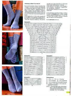 Sabrina Special - S 2059 Designer Socken – 32 fotografií Knitted Socks Free Pattern, Fair Isle Knitting Patterns, Crochet Square Patterns, Crochet Socks, Knitting Designs, Knit Crochet, Knit Socks, Lace Knitting, Knitting Socks