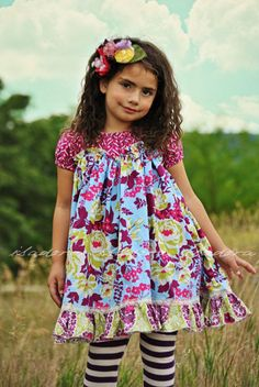 Girls Peasant Tunic Dress by ISADORAKIDS on Etsy,