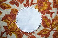 BNIP 6 x Vintage White Circular Cotton Coasters/ Doilies - Crochet/ Lace Trim in Antiques, Fabric/ Textiles, Lace/ Crochet/ Doilies | eBay