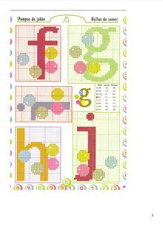 Cross stitch pattern alphabet