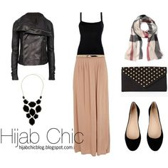 """""""How to wear black leather jacket?"""" by hijab-chic on Polyvore"""