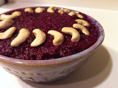 Beetroot pudding