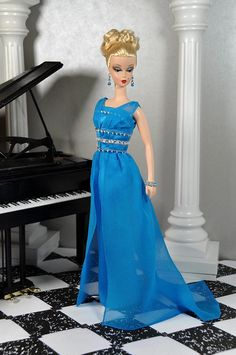 76-3. MAD MEN Betty Draper blue evening dress mini replica by Natalia Sheppard, via Flickr