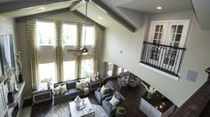 Spectacular vaulted ceiling plus an upstairs balcony with french doors opening onto the living room