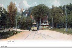 Juditten Kr. Königsberg, Louisenthal, Endhaltestelle der Straßenbahnlinie 12