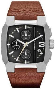 Relógio Diesel Chronograph with Date Leather Men's watch #DZ4276 #Relogio #Diesel