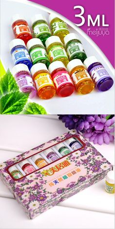 [Visit to Buy] 12pcs Brand New Essential Oils Pack for Aromatherapy Spa Bath Massage Skin Care Lavender Oil With 12 Kinds of Fragrance #Advertisement