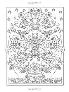 Adult Coloring Books Sugar Skulls Emma Andrews