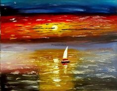 https://www.etsy.com/listing/217903421/fine-art-print-original-sunset-painting      Fine Art Print Original Sunset Painting Colorful by PreethiArt