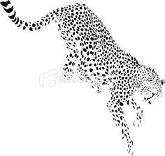 Jumping cheetah illustration Royalty Free Stock Vector Art Illustration