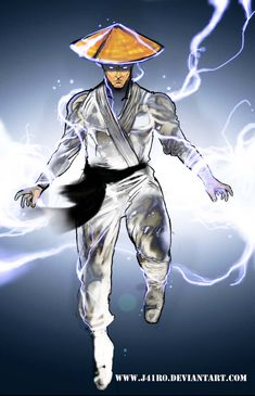 Raiden-Mortal Kombat fan art by Raiden Mortal Kombat, Mortal Kombat Games, Mortal Kombat Art, Game Character Design, Character Drawing, Gi Joe, Lord Raiden, Mortal Kombat X Wallpapers, V Games