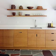 FLOATING SHELVES - SEMIHANDMADE, doors and wood to fit ikea systems.  LOVE this for kitchen.