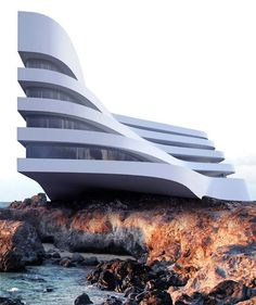 Fabulous Architecture was share to Roman Vlasov design . He is Ukranian and he created minimalist and futuristic architectural design. Cantilever Architecture, Hotel Design Architecture, Define Architecture, Organic Architecture, Futuristic Architecture, Concept Architecture, Lego Architecture, Futuristic Design, Design Hotel