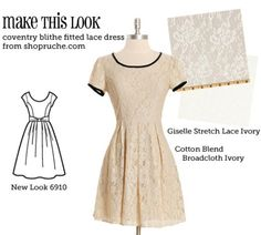(via MTL: Coventry Blithe Fitted Lace Dress - The Sew Weekly Sewing Blog & Vintage Fashion Community)