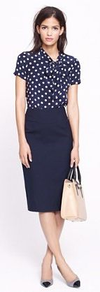 posts post navy blue and white polka dot