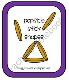Popsicle Stick Shapes from FroggyFriendsFun on TeachersNotebook.com (9 pages)