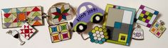 New charms and pins from Quilt Festival Fall 2014, www.pinpeddlers.com #quiltpins