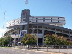 University of Memphis Tigers. Entrance to Liberty Bowl Memorial Stadium (originally Memphis Memorial Stadium) is a football stadium, located at the Mid-South Fairgrounds, in Midtown Memphis, Tennessee, United States. The stadium is the site of the annual AutoZone Liberty Bowl, and is the home field of the University of Memphis Tigers football team.
