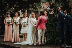 WedLuxe– Vintage Tropical | Photography by: Leydon Photography Follow @WedLuxe for more wedding inspiration! Las Vegas City, To Boot New York, Oil Painters, Bridesmaid Dresses, Wedding Dresses, Tropical Plants, Formal Wear, Wedding Themes, Floral Design