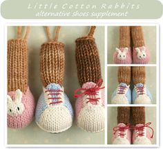 Little Cotton Rabbits current pattern range  Clicking on any of the pictures below will take you to full details for that pattern, or simply scroll down the page to see all of the patterns in more detail.Shoescover