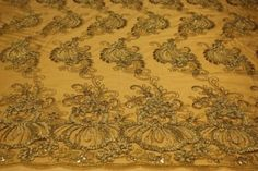 Amazon.com: Gold, Embroidey Lace Fabric with Squins on Polyester Mesh: Arts, Crafts & Sewing