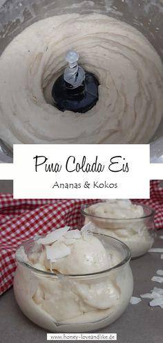 Pina Colada Eis mit Ananas und Kokos #eis #eiscreme #kokos #ananas #nicecream Virgin Pina Colada, Low Carb Recipes, Healthy Recipes, Paleo, Keto, Nice Cream, Good Food, Pudding, Sweets