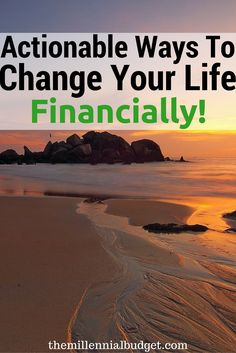 Actionable Ways to Change Your Life Financially | Do you find yourself living…