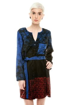 Button Belted Dress