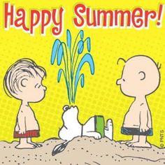 When I reminisce about summer vacation, I reminisce about my favorite childhood cartoon characters – Snoopy, Charlie Brown, and the rest of the Peanuts gang
