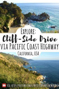 Take a drive down the Pacific Coast Highway. California road trip USA