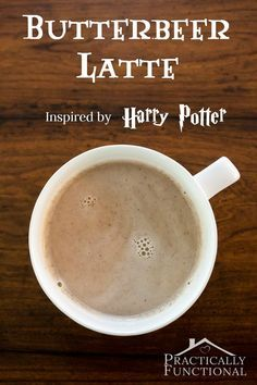 Harry Potter inspired butterbeer latte recipe! Super delicious and quick to make; only five ingredients!
