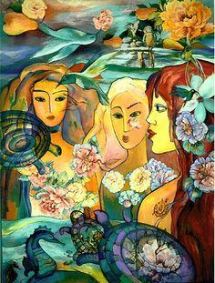 Original Mixed Media Painting on Board Blue by elenadiadenko, $6900.00