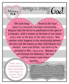 Mimi Lee Printables & More: February 2016 Visiting Teaching message-Marriage is ordained of God