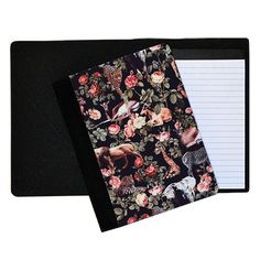 www.bespo.co.uk burcukorkmazyurek store products animals-and-floral-pattern-notebook