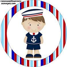 Oi Pessoal!!!!! Mais um kit para menino! Kit de Marinheiro Azul e vermelho, para decorar a festa do seu Garotão! O kit é completo com c... Sailor Birthday, Baby Birthday, Sailor Theme, Happy Birthday Jesus, Blog Layout, Nautical Party, Class Decoration, Hang Tags, Digital Stamps