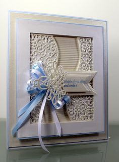 Happy Tuesday, Today I'm sharing this card made with the elegant corner from the Downton Abbey range from Crafters Companion. I bought ...
