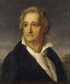 Goethe, Johann Wolfgang von  Frankfurt a.M. 28.8.1749 - Weimar 22.3.  1832.  - Portrait. -  Painting, 1822/26, by Heinrich Kolbe  (1771-1836), Partial copy by the artist  of the full-length Goethe portrait  with Vesuvius in the background.  Weimar, Stiftung Weimarer Klassik.