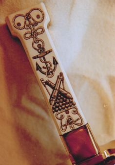 Ivory hilted knife with Naval Motif, by David St. Albans 1984