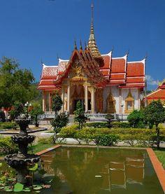 Wat Chalong Temple, Ban Karon -  Phuket, Thailand Khao Lak, Thailand Travel, Free Spirit, Us Travel, Strand, Places Ive Been, Temple, Buildings, Wanderlust
