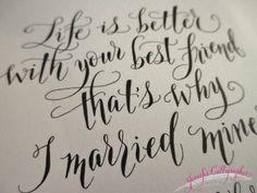 Custom Calligraphy Pieces by JenniferCalligrapher on Etsy