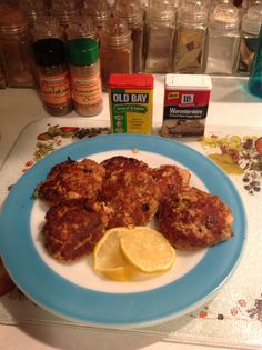 Tuna & Salmon Patties: Lg can tuna with oil drained, Lg can salmon drained, 2 eggs, ½ t baking powder, juice from ½ small lemon, ½ c sautéed celery, onion and green pepper combo, ½ t Worcestershire powder, ½ t Old Bay Seasoning, ¼ t cayenne pepper, 2 T. Koops Horseradish Mustard, 2 T heavy whipping cream. Mix together and fry in butter turning carefully so they won't fall apart. Serve with a lemon wedge for drizzling. Moist and flavorful.